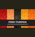 diamond pattern set perky pumpkin seamless vector image vector image