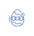 easter egg line icon concept easter egg flat vector image
