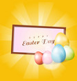 easter eggs with frame background vector image
