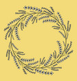 floral round frame with doodle branches vector image