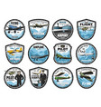 flying academy air tour and airline icons icon vector image vector image