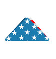 folded us flag triangle symbol of mourning vector image vector image