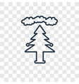 forest concept linear icon isolated on vector image