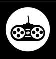 game controller icon design vector image