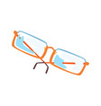 glasses cartoon vector image