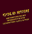 gold rush whiskey label font vector image vector image