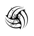 grunge volleyball symbol vector image vector image