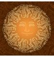 hand drawn mandala with sun ribbon on vector image vector image