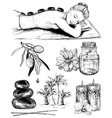 Hand Drawn Sketch of Spa Icons vector image vector image