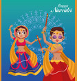 happy navratri celebration lettering card vector image vector image