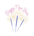 happy new year lettering handwritten with elegant vector image