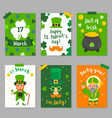 happy st patricks day invitation card vector image vector image