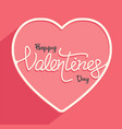 happy valentines day with couple for banner vector image vector image