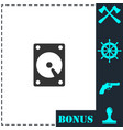 hard drive icon flat vector image vector image