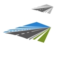 Icon of highway disappearing beyond horizon vector image vector image