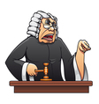 judge with gavel vector image vector image