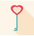 Key heart shaped vector image
