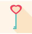 Key heart shaped vector image vector image