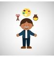 kids students design vector image