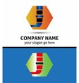 Letter H logo with hexagon icon vector image