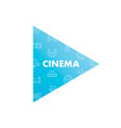 line icons in play shape cinema vector image