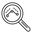 magnify glass icon outline style vector image vector image