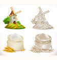 mill and flour 3d realism and engraving styles vector image vector image