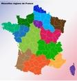 New French regions Nouvelles regions de France vector image vector image