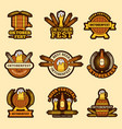 oktoberfest badges alcoholic drinks craft beer vector image vector image