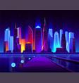 pier on modern metropolis bay cartoon vector image vector image