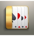 Realistic icon deck of playing cards for casino vector image vector image