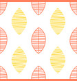red and yellow leaves seamless pattern design vector image