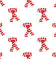Red scarf seamless pattern vector image