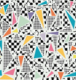 Retro 80s memphis pattern background vector image vector image