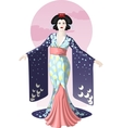 Retro character attractive japanese actress geisha vector image vector image