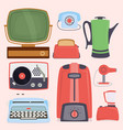 retro vintage household appliances kitchenware vector image vector image