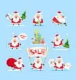 santa claus collection christmas sales vector image vector image
