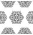 seamless pattern flower mandala vintage vector image vector image