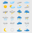 set colorful weather icons vector image vector image