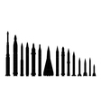 set of combat rocket weapons vector image