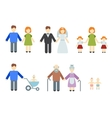 Set of flat people vector image vector image