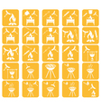 Set of grilled sausage icons vector image