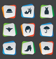 set of simple clothes icons vector image vector image