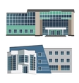 set two modern buildings vector image vector image