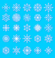 snowflakes icons frozen star christmas vector image