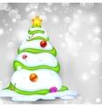 Snowy Christmas Tree vector image