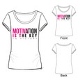 sport fashion print for t shirt vector image vector image
