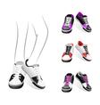 stylish sports shoes vector image