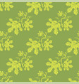 summer leaves seamless different leaves pattern vector image vector image