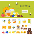 template for banner with honey vector image vector image